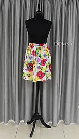 Sukne - Letná kvetovaná sukňa - 10733884_