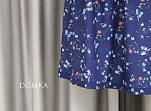 Sukne - Letná kvetovaná tmavomodrá sukňa - 10733918_
