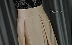 Sukne - Dlhá béžová dámska sukňa - 10734084_
