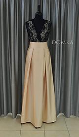 Sukne - Dlhá béžová dámska sukňa - 10734085_