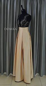 Sukne - Dlhá béžová dámska sukňa - 10734086_