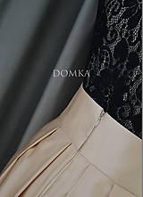 Sukne - Dlhá béžová dámska sukňa - 10734087_