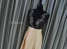 Sukne - Dlhá béžová dámska sukňa - 10734088_