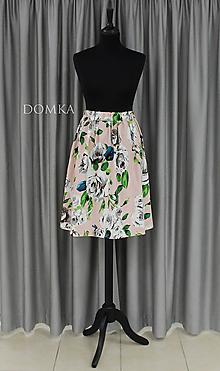 Sukne - Dámska kvetovaná sukňa - 10733766_