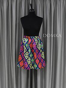 Sukne - Pestrofarebná dámska sukňa - 10733841_