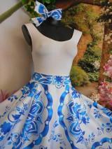 """Sukne - FLORAL FOLK """" Slovenská ornamentika """", spoločenská sukňa v dĺžke midi - 10734056_"""