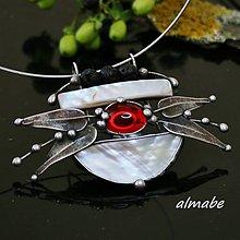 Náhrdelníky - Stříbřitý svět (perleť) - 10732802_