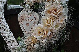 Dekorácie - Svadobné srdce - 10731188_