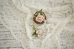 Ozdoby do vlasov - Kvetinové ružová pukačka - 10733439_