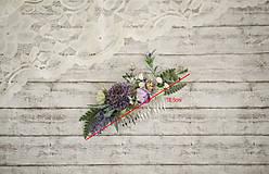 Ozdoby do vlasov - Fialkový kvetinový hrebienok do vlasov - LÚKA - 10733555_