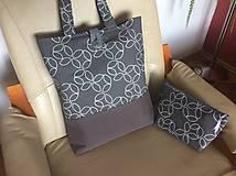 Nákupné tašky - taška šedá - 10732866_