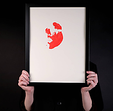 Obrazy - výkrik dneška // maľba akrylom na papieri // A2 - 10731638_