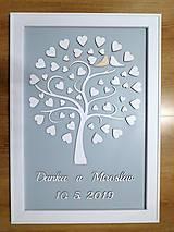 Dekorácie - svadobná kniha hostí/drevený strom 30 - 10732300_