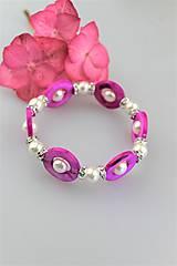 Náramky - perleť perly swarovski náramok - 10733940_