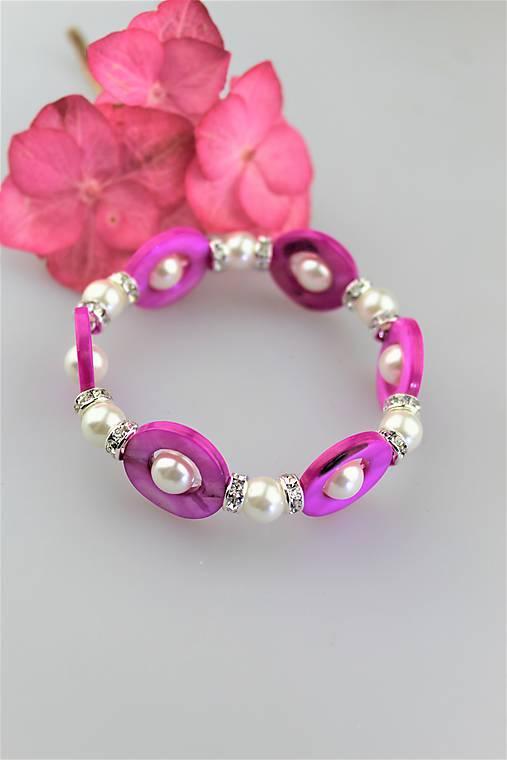 perleť perly swarovski náramok