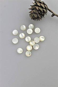 Minerály - perleť kabošon 8mm (perleť AA kvalita) - 10733407_