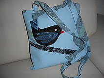 Kabelky - Kabelka s vtáčikom. - 10732732_