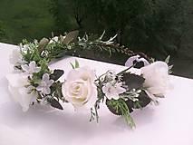 """Ozdoby do vlasov - Kvetinový venček do vlasov """"...svieža ranná rosa..."""" - 10731732_"""