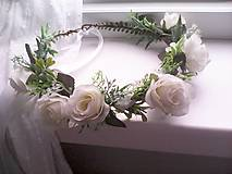 """Ozdoby do vlasov - Kvetinový venček do vlasov """"...svieža ranná rosa..."""" - 10731733_"""