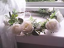 """Ozdoby do vlasov - Kvetinový venček do vlasov """"...svieža ranná rosa..."""" - 10731735_"""