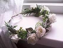 """Ozdoby do vlasov - Kvetinový venček do vlasov """"...svieža ranná rosa..."""" - 10731736_"""