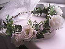 """Ozdoby do vlasov - Kvetinový venček do vlasov """"...svieža ranná rosa..."""" - 10731738_"""