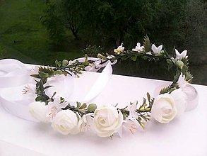 """Ozdoby do vlasov - Kvetinový venček do vlasov """"...nežná..."""" - 10731684_"""