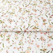 Textil - ružová lúka, 100 % predzrážaná balvna Španielsko, digitálna tlač, šírka 150 cm - 10731447_