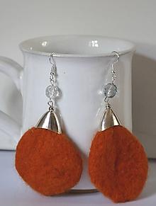 Náušnice - Náušky oranžové 2... - 10731718_