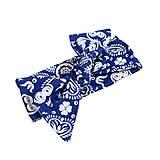 Iné doplnky - Čelenka white/Blue Folk Ornament uni - 10733930_