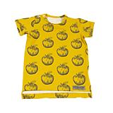Detské oblečenie - Tričko - Apples mustard krátky rukáv - 10733956_