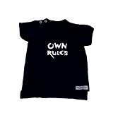Detské oblečenie - Tričko Own Rules čierne - 10733990_
