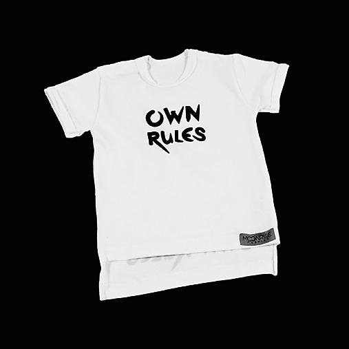 Tričko Own rules biele