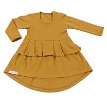 Detské oblečenie - Šaty s volánom cinnamon - 10733715_