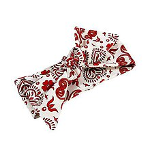 Iné doplnky - Čelenka red folk ornament uni - 10733906_