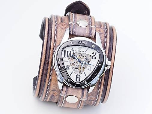 c48ccbfae Vintage kožené hodinky,remienok z pravej kože / leon - SAShE.sk ...