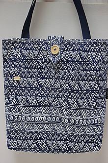 Nákupné tašky - Taška Modré tvary 2. - 10731354_