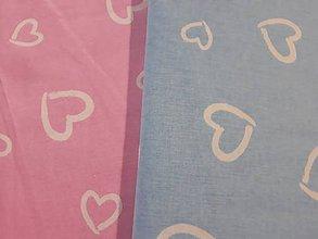 Textil - bavlnená látka srdiečka ružová - 10731477_