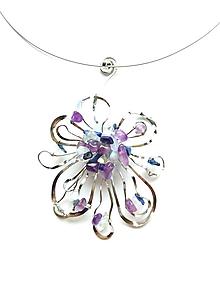 Náhrdelníky - Náhrdelník /opalit, lapis lazuli,chalcedon,ametyst - 10730847_