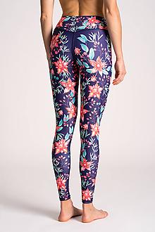 Nohavice - Legíny Červené kvety - 10732027_