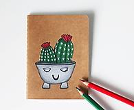 Papiernictvo - Kaktus v miske (zápisník) - 10731308_