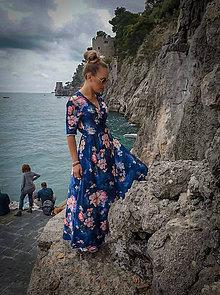 Šaty - Zavinovacie šaty z hodvábneho saténiku - 10730814_