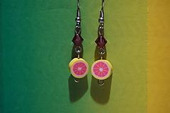 Náušnice - Náušnice - Ružový grep - 10733657_