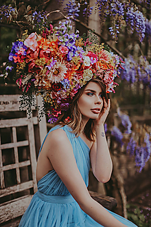 Ozdoby do vlasov - Hravá rozprávková koruna z kvetov - 10731761_
