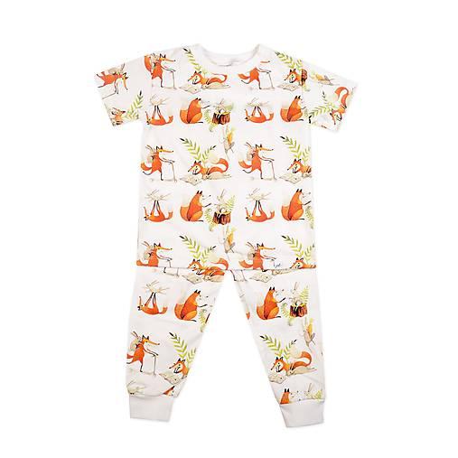 Detské pyžamo Líška Plíška a Zajac Ervín krátky rukáv