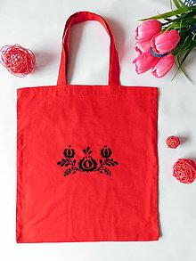 Nákupné tašky - Ručne vyšívaná folk nákupná taška - 10732989_