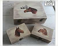 Krabičky - Pre milovníkov koní- šperkovnica
