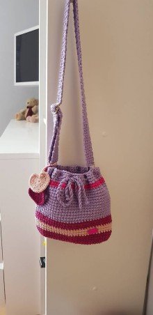 Detské tašky - Detská háčkovaná kabelka - 10731292_