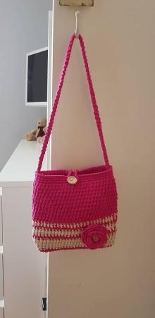 Detské tašky - Detská háčkovaná kabelka - 10731327_