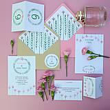 Karafiátky - svadobné oznámenie